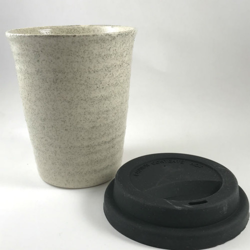 Robert Gordon - Carousel Coffee  Cup 375ml- Poppy Seed with black silicone lid
