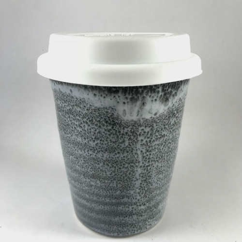 Robert Gordon - Carousel Coffee Cup Large 375ml - Storm with white silicone lid