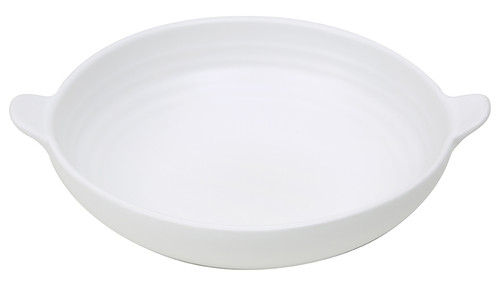 Willow Shallow Bowl in Matte White