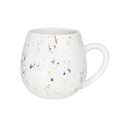 Robert Gordon - Hug Me Mugs (set of 4) in White & Gold Splat