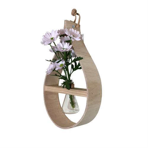 Stix & Flora Mega Teardrop Wooden Vase - Single 250ml Conical Flask