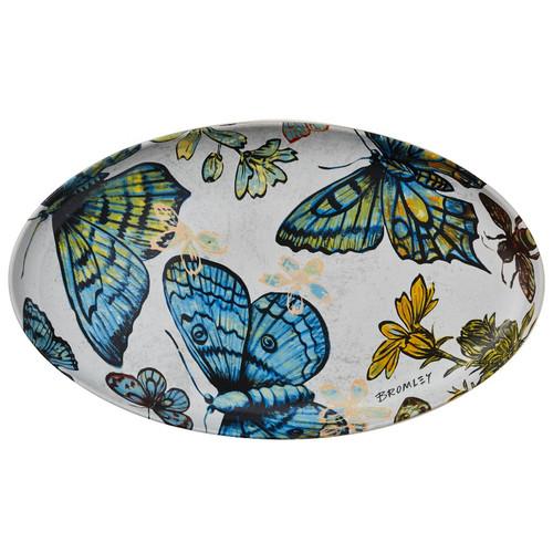 Robert Gordon X Bromley & Co Collection - Oval Platter Butterflies