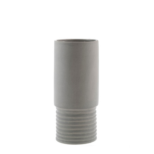 Zakkia Tall Vase - Grey Small  9cms Diam x 19.5cm Height