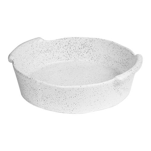 Robert Gordon - BAKER Round - White Granite Feast, Oven to Table - 29cm x 26.5cm x7cm,  1.7kg