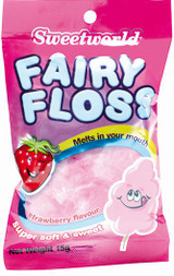Sweetworld Fairy Floss 15g Strawberry Flavour