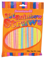 Sweetworld 101 Rainbow Straws 160g