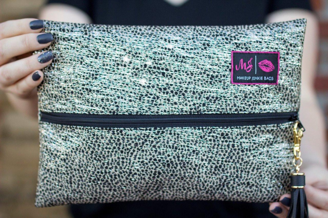 115b91b44c87 Sparkle Roxbury Makeup Junkie Bag Free shipping | Red Makeup Junkie Bag