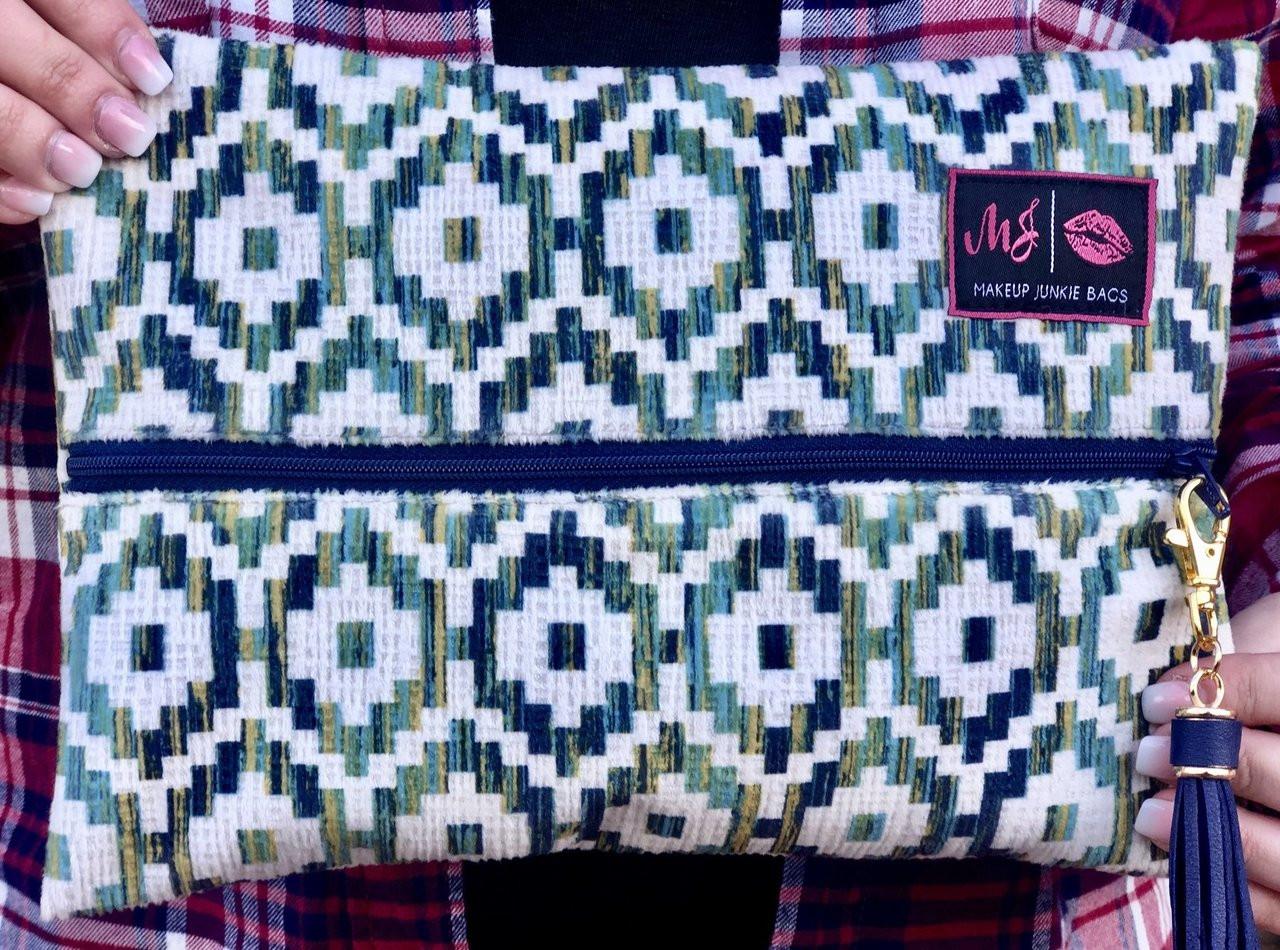 518b97527173 turquoise cobra Makeup Junkie Bag Free shipping