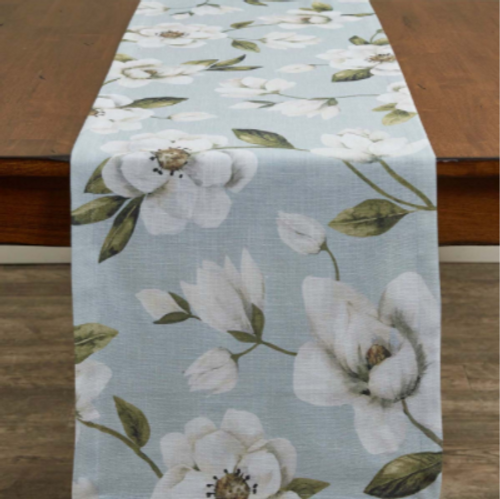 Copy of Magnolia Floral Printed Table Runner 15x72