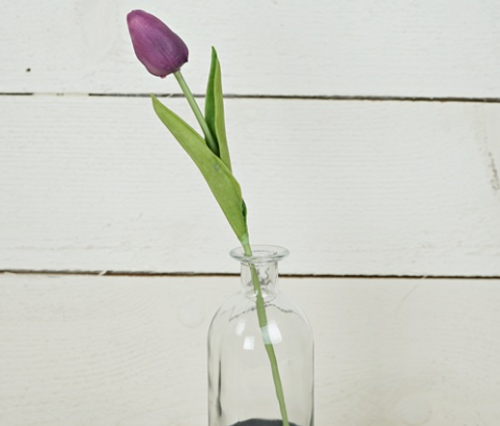 Foamy Tulip Bud Stem - Purple