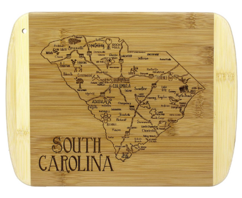 A Slice of Life South Carolina Bamboo Cutting and Serving Board