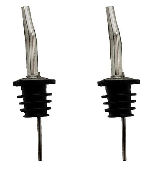Stainless Steel Liquor Pourers (Set of 2)