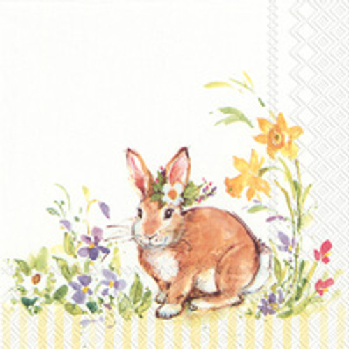 Lovely Bunny- Yellow Cocktail Napkins