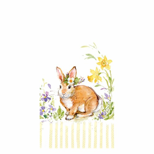 Lovely Bunny - Yellow Guest Towel