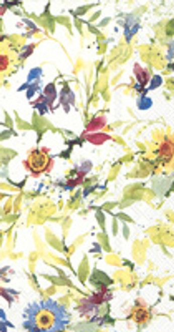 Packed Flowers Guest Towel