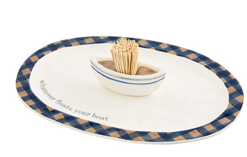 Lake Plate with Toothpick Holder