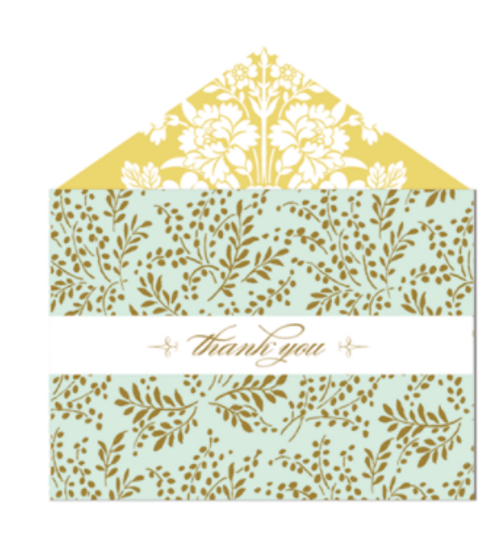 Amelie Damask Thank You Cards and Envelopes