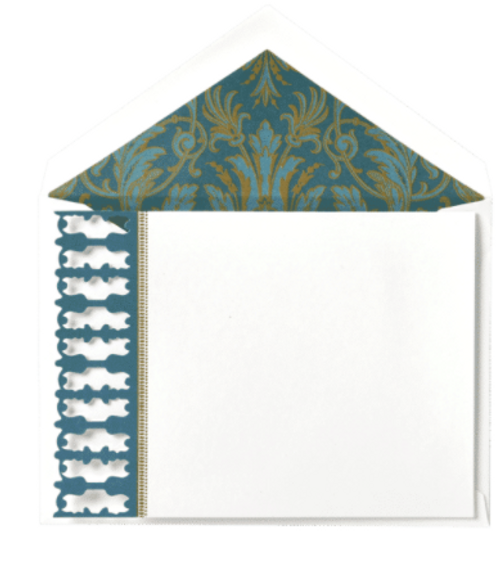Peacock Correspondence Cards and Envelopes