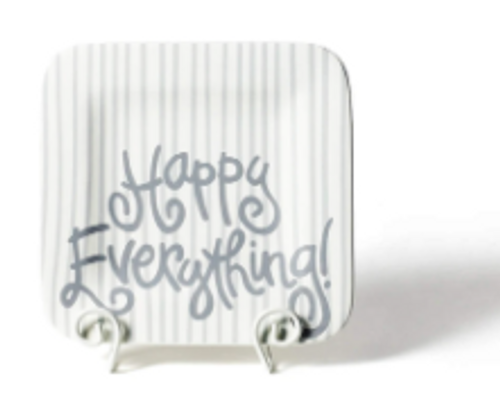 Stone Skinny Stripe Happy Everything 9.25 Mini Platter