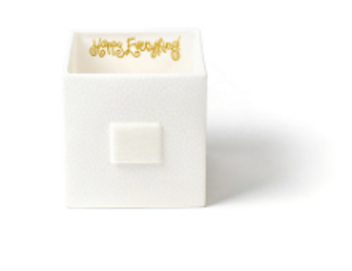 White Small Dot Mini Nesting Cube Medium