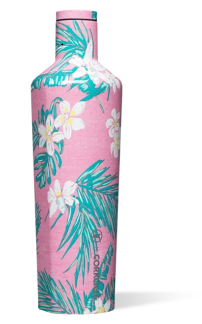 Vineyard Vines x Corkcicle Canteen - Pink Tropical Flowers