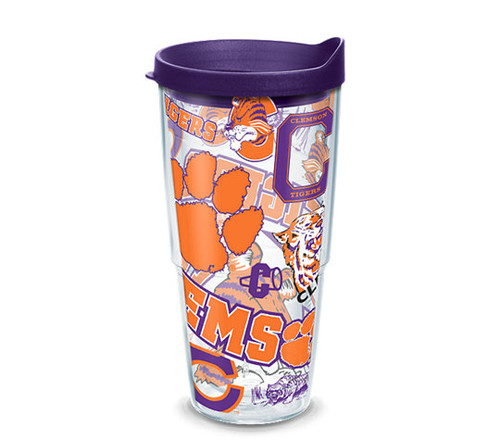 Clemson Tigers All Over 24 oz TERVIS tumbler