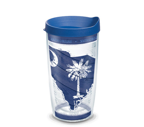 South Carolina Wood State Outline 16 oz TERVIS Tumbler