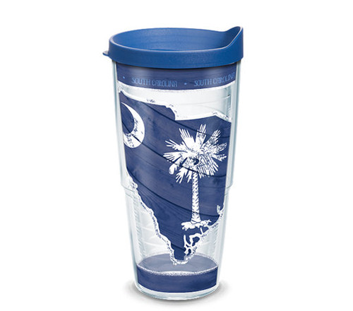 South Carolina Wood State Outline 24 oz TERVIS Tumbler