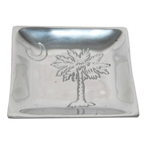 "6"" Palm Tree and Moon Square Plate"