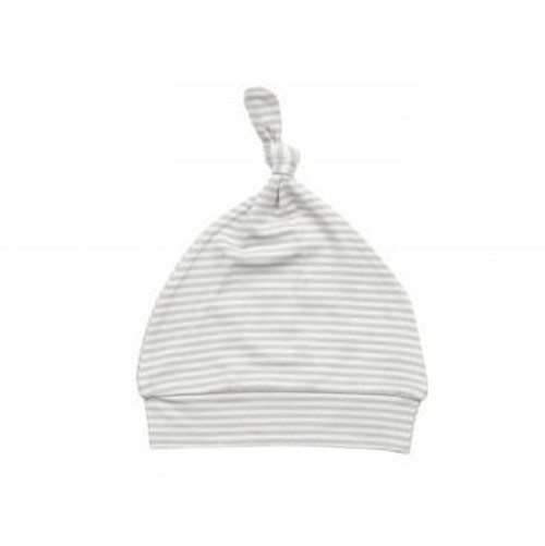 Angel Dear Grey Stripe Hippo Knotted Hat (0-3M)