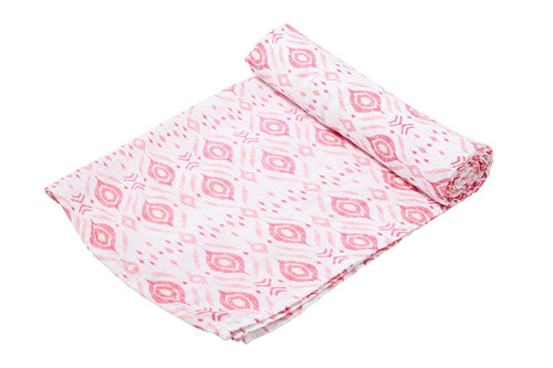 Angel Dear Bamboo Swaddle Blanket - Pink Ikat