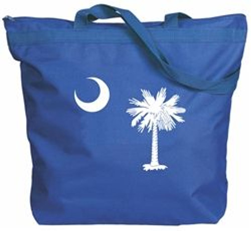 Zipper Tote - SC Palmetto Moon