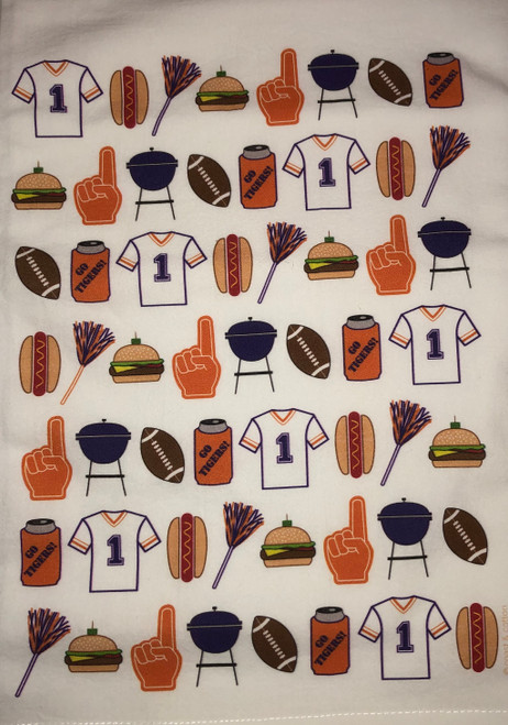 Clemson Football Tea Towel