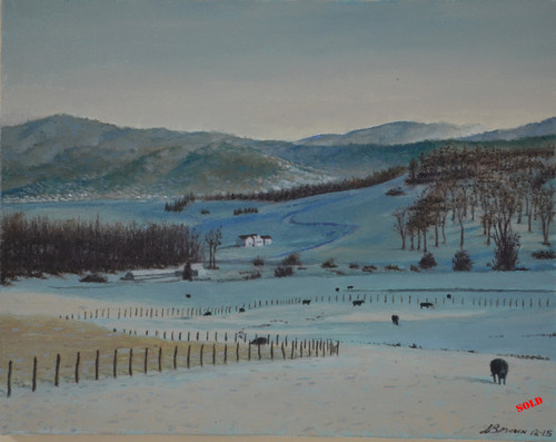 Winter in Virginia Oil on Canvas Printing