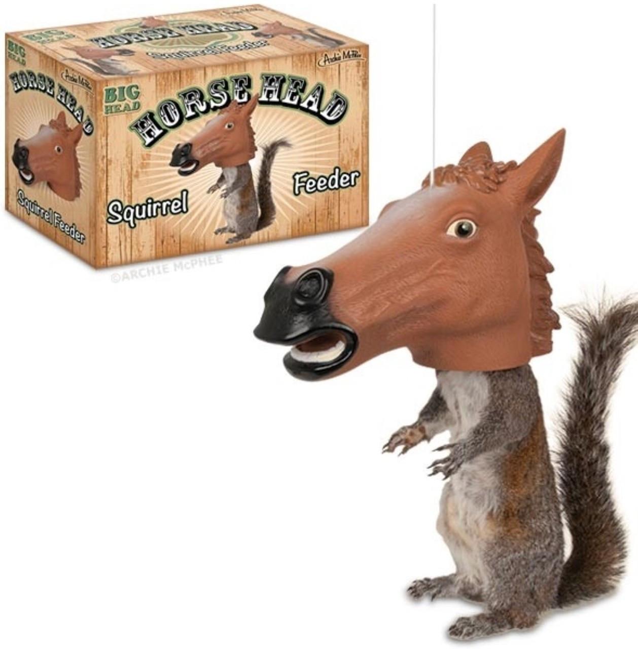Horse Head Squirrel Feeder The Novelty Shoppe