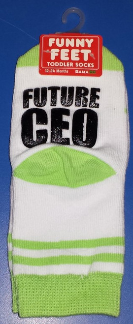Funny Feet Future CEO Toddler Socks