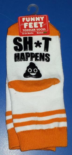 Funny Feet Shit Happens Toddler Socks