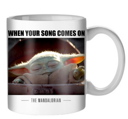 Star Wars: The Mandalorian Song Comes On The Child 20 oz. Mug