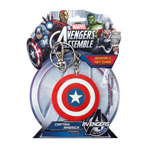 Captain America Shield 3-Inch Bendable Key Chain