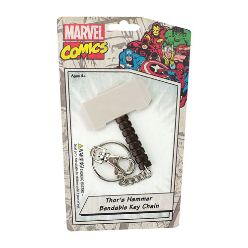 Thor's Hammer 3-Inch Bendable Key Chain