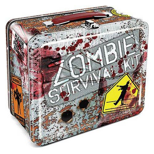 Zombie Survival Large Fun Box Tin Tote