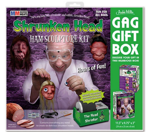 SHRUNKEN HEAD HAM GAG GIFT BOX