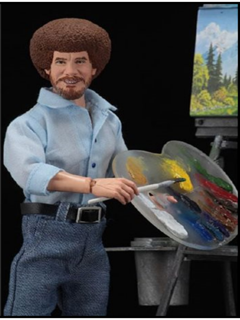 Bob Ross 8-Inch Scale Clothed Action Figure