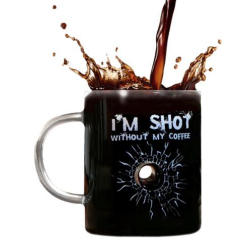I'm Shot without My Coffee Glass Mug