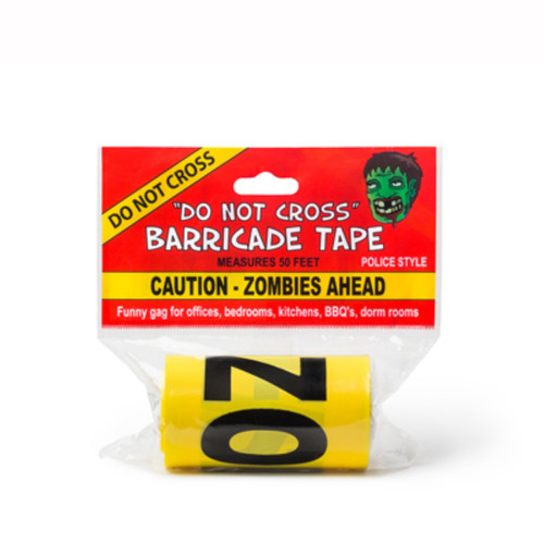 Caution Zombies Ahead Crime Scene Tape