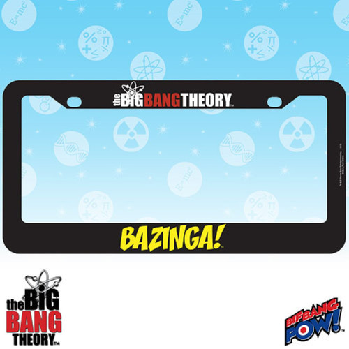 Big Bang Theory Bazinga! License Plate Frame