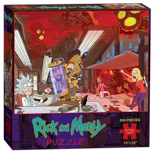 Rick and Morty 550-Piece Puzzle