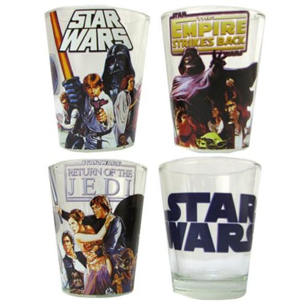 Star Wars Original Trilogy Mini Glass 4-Pack