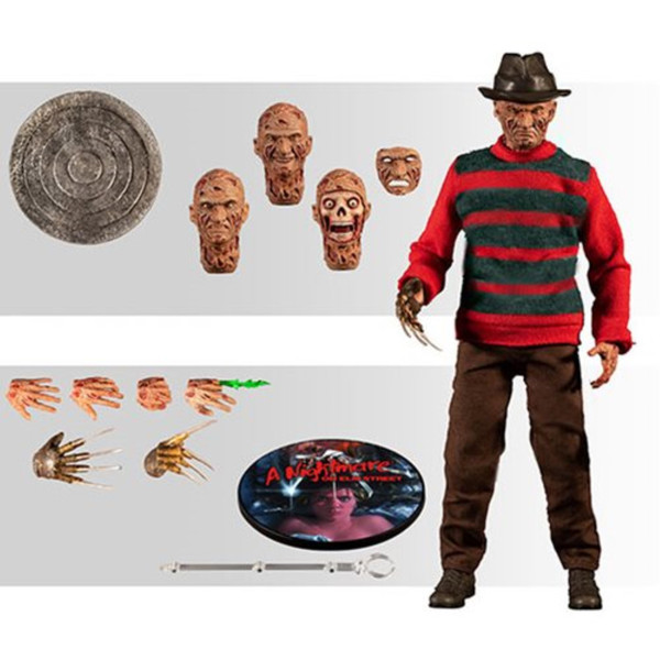A Nightmare on Elm Street Freddy Krueger One:12 Action Figure FREE USA Shipping