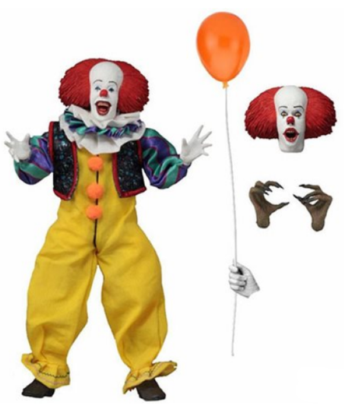 IT 1990 8-Inch Clothed Pennywise Action Figure Tim Curry